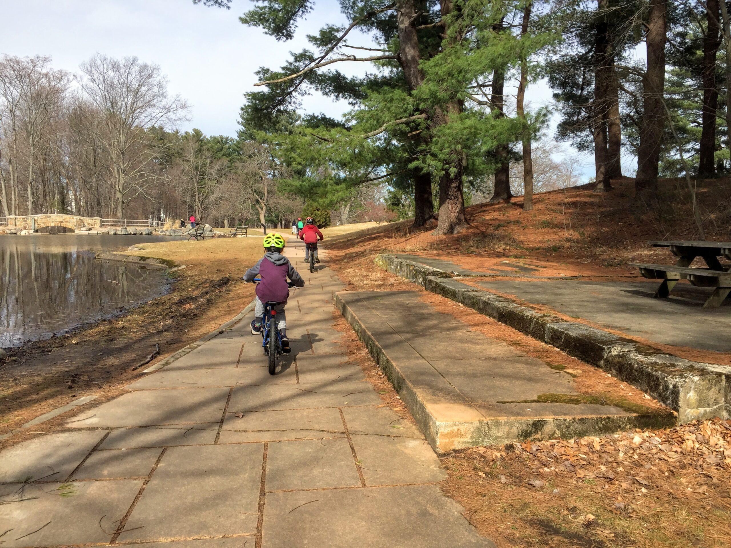 Riding bike at Francis William Bird Park
