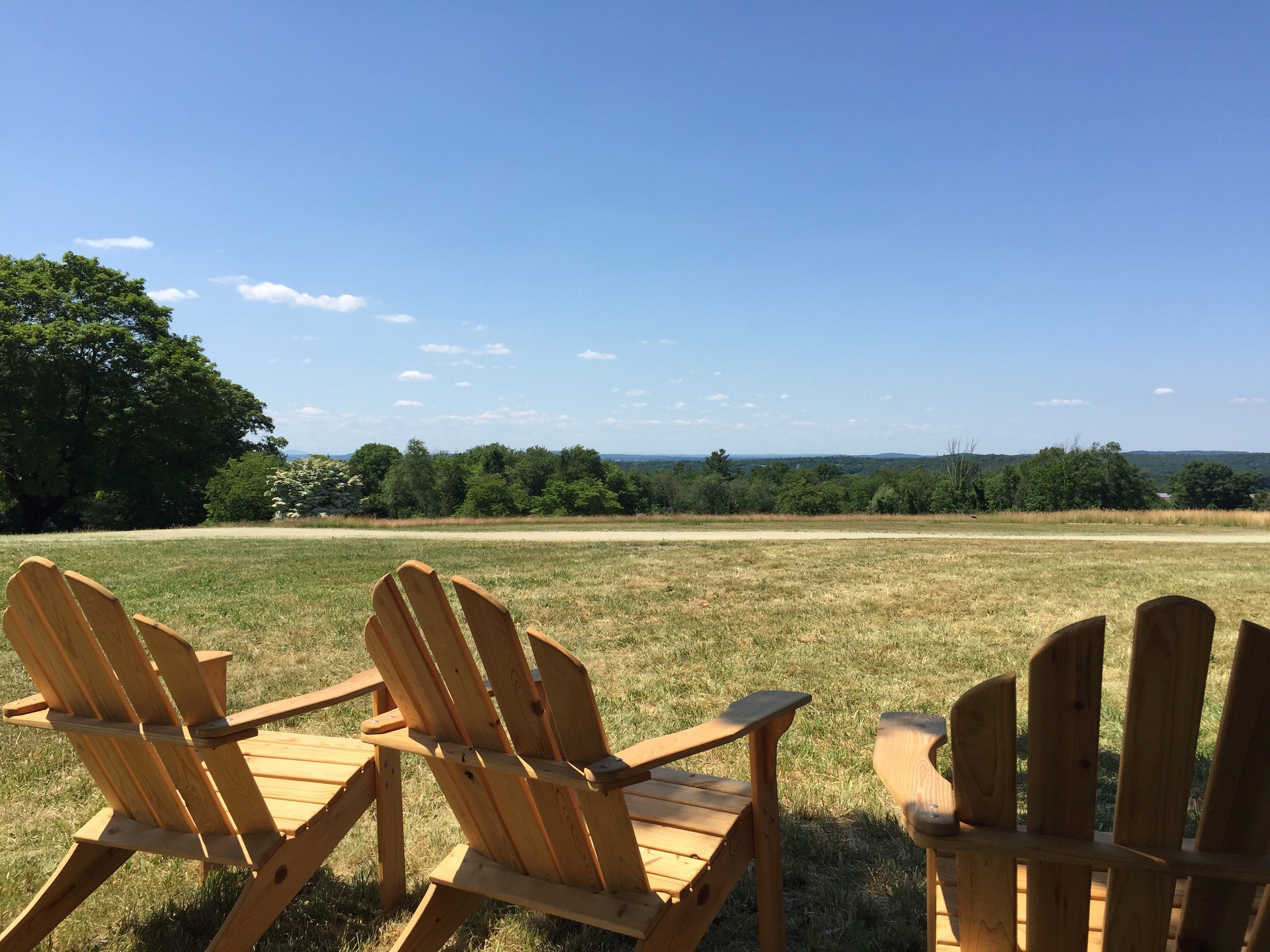 Pegan Hill adirondack chairs and view