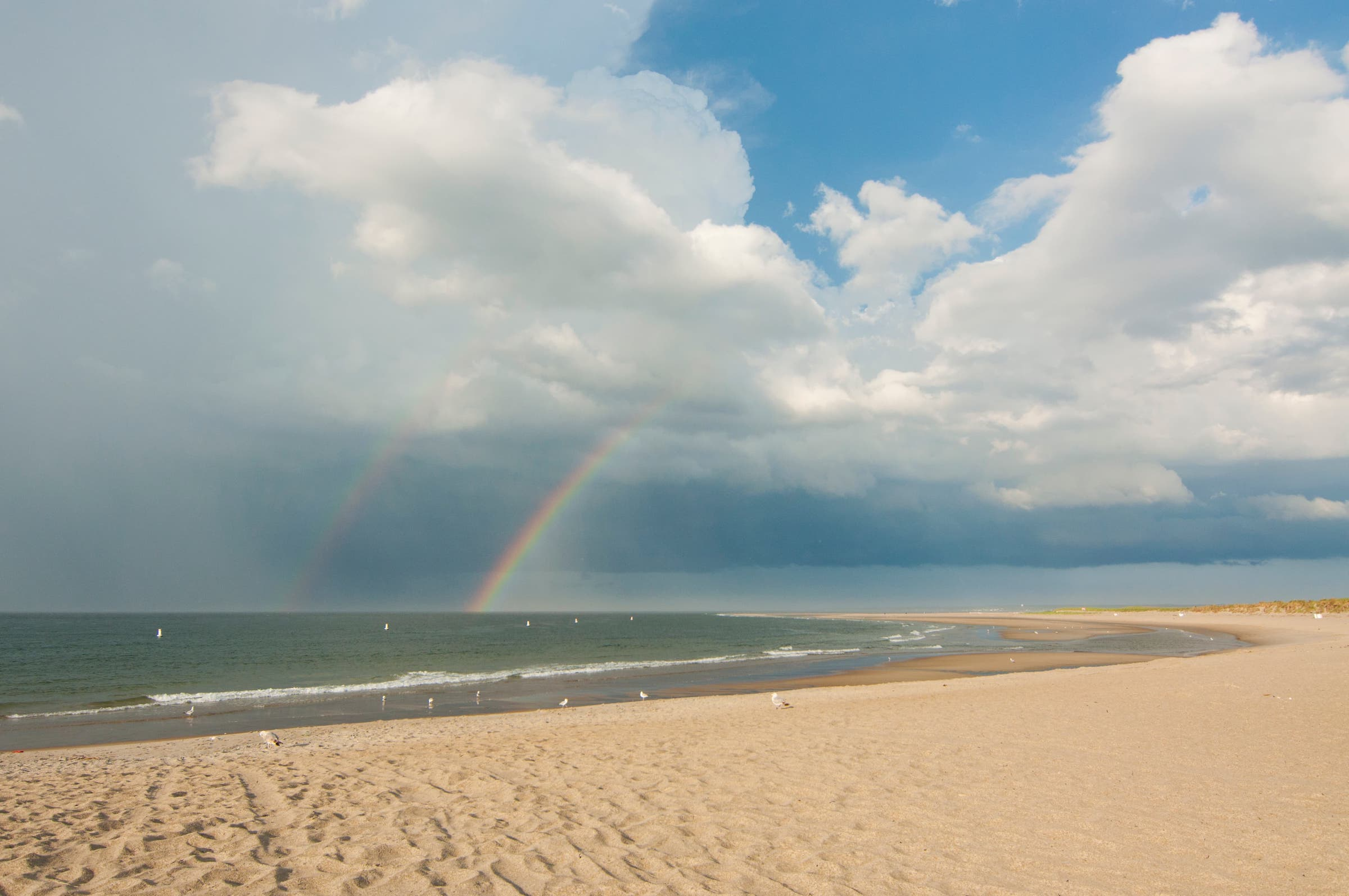Crane Beach double rainbow