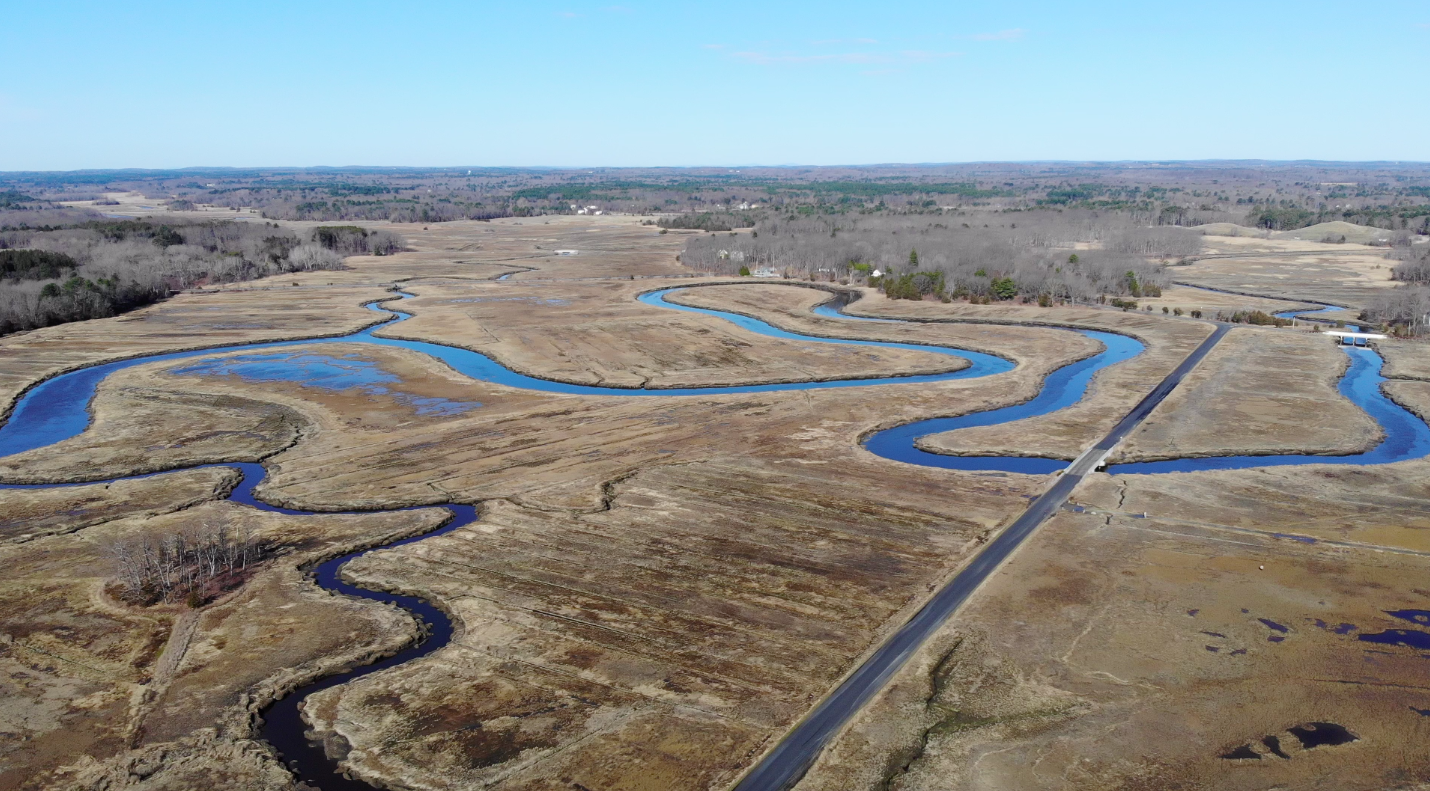 Old Town Hill marsh from above