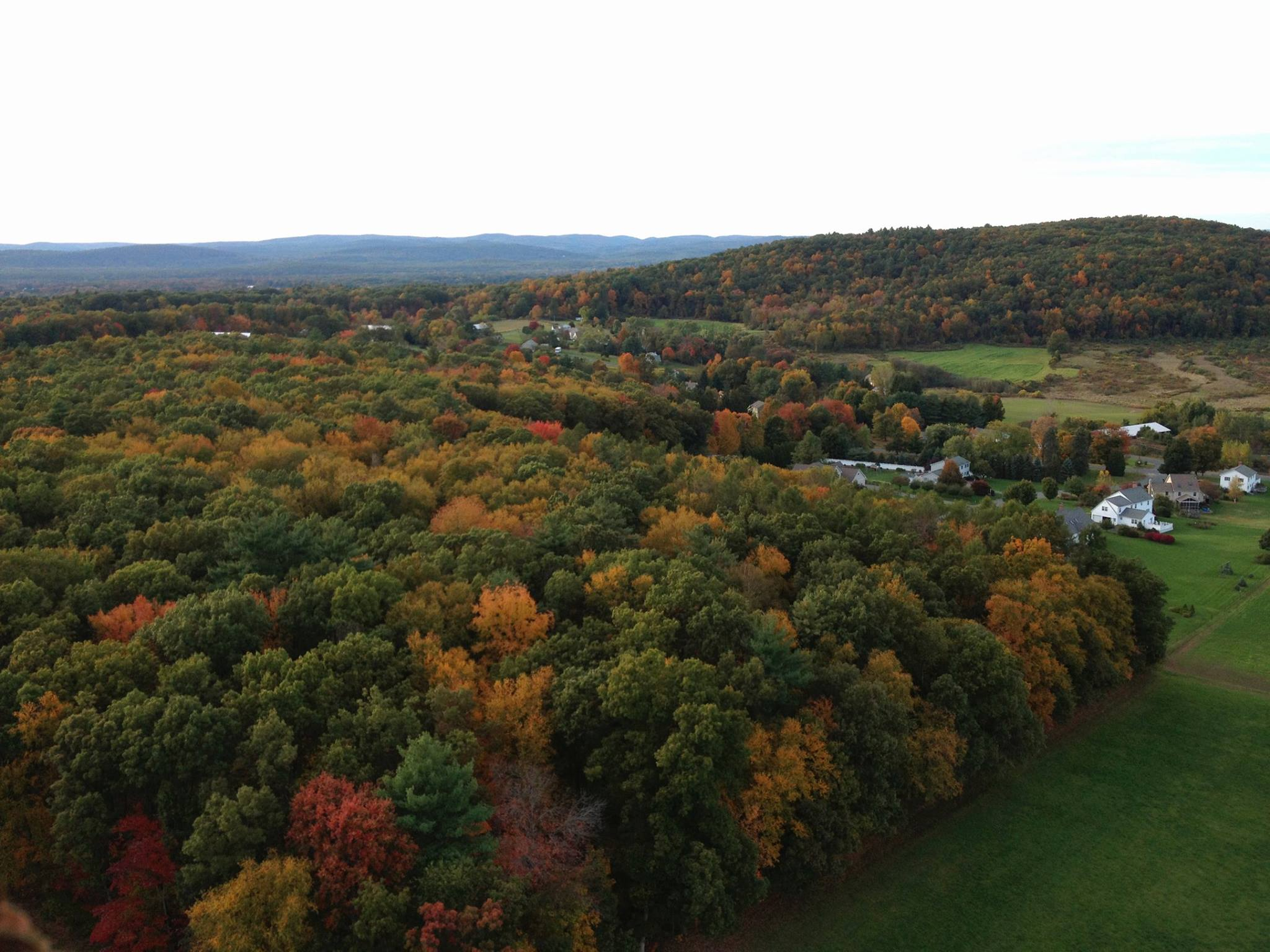 Mount Warner aerial view in the fall