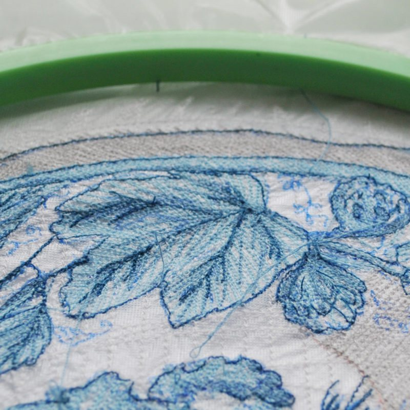 Embroidery & Watercolor