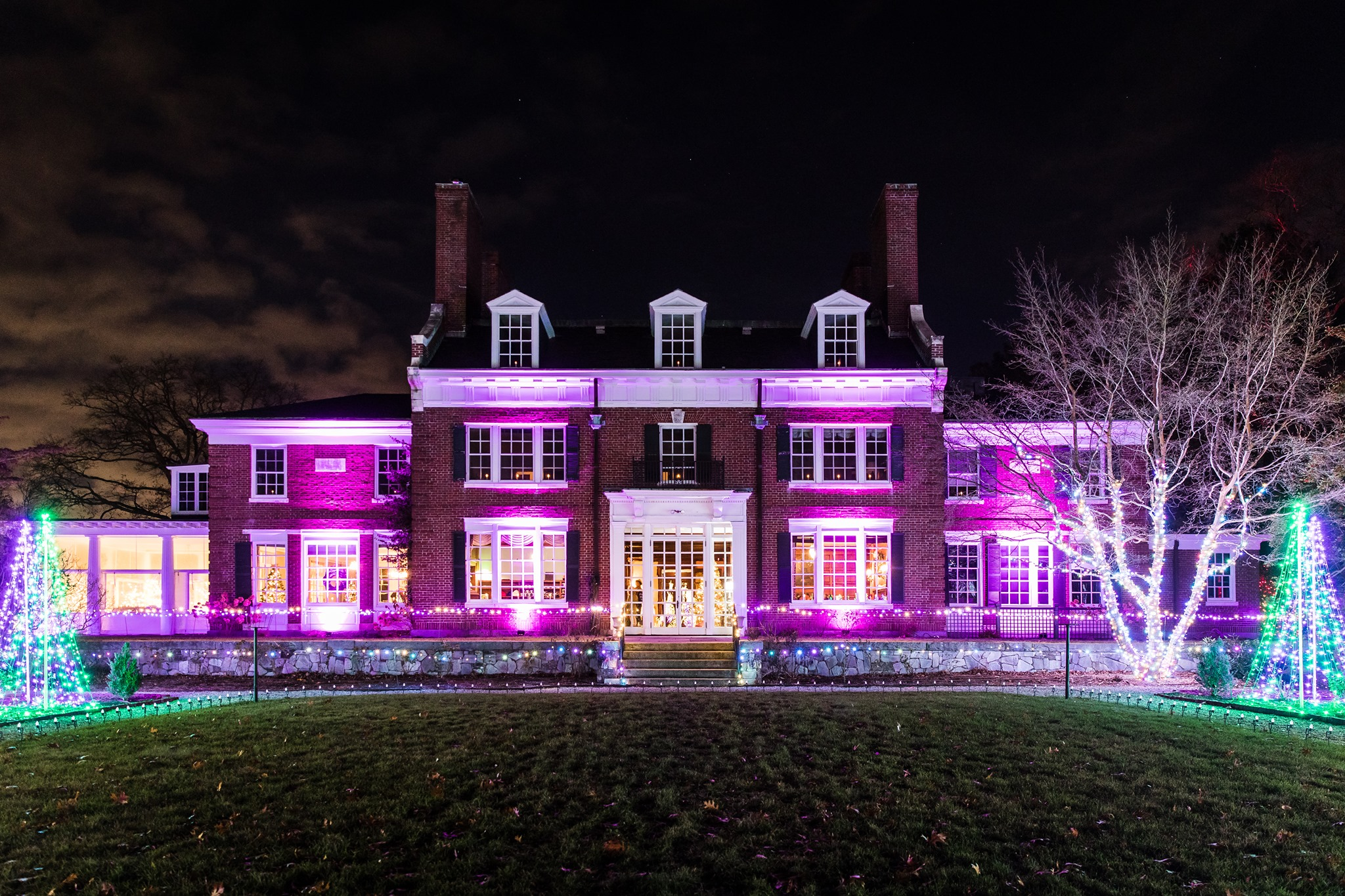 Eleanor Cabot Bradley House during Winterlights