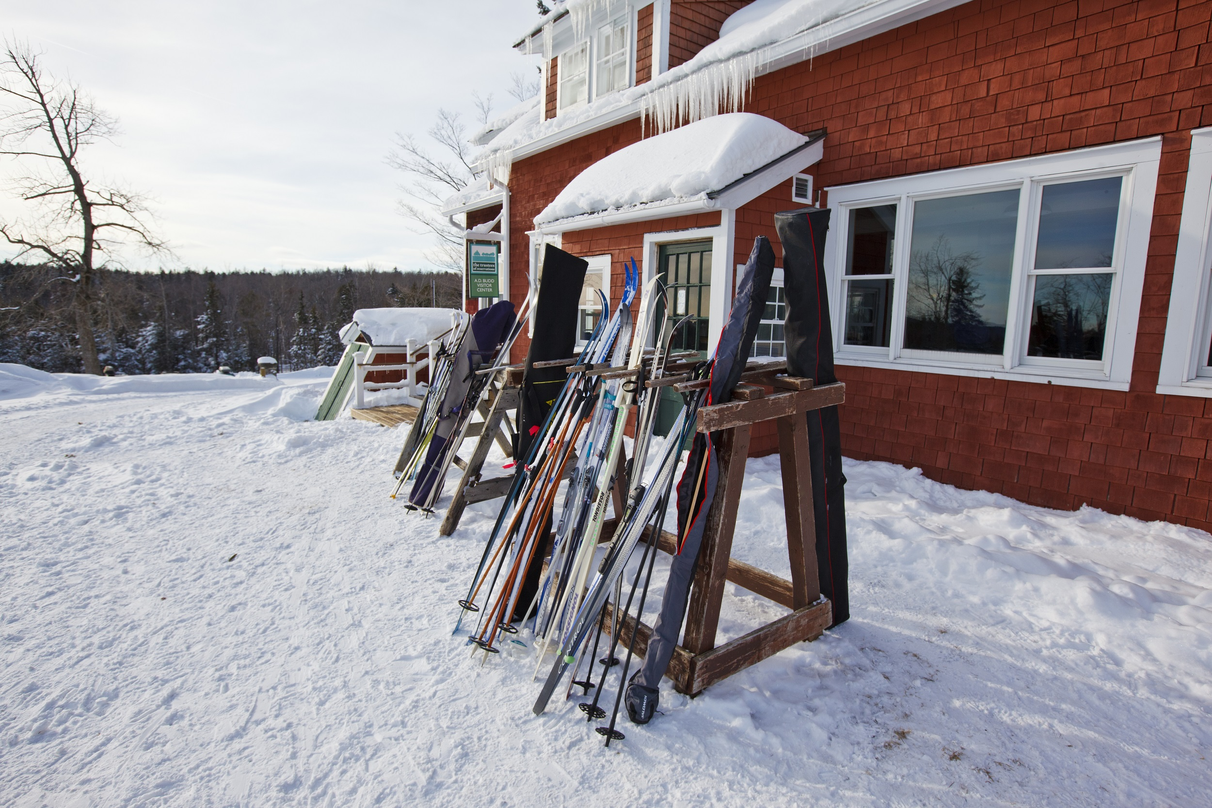 The cross-country skiing center at Notchview