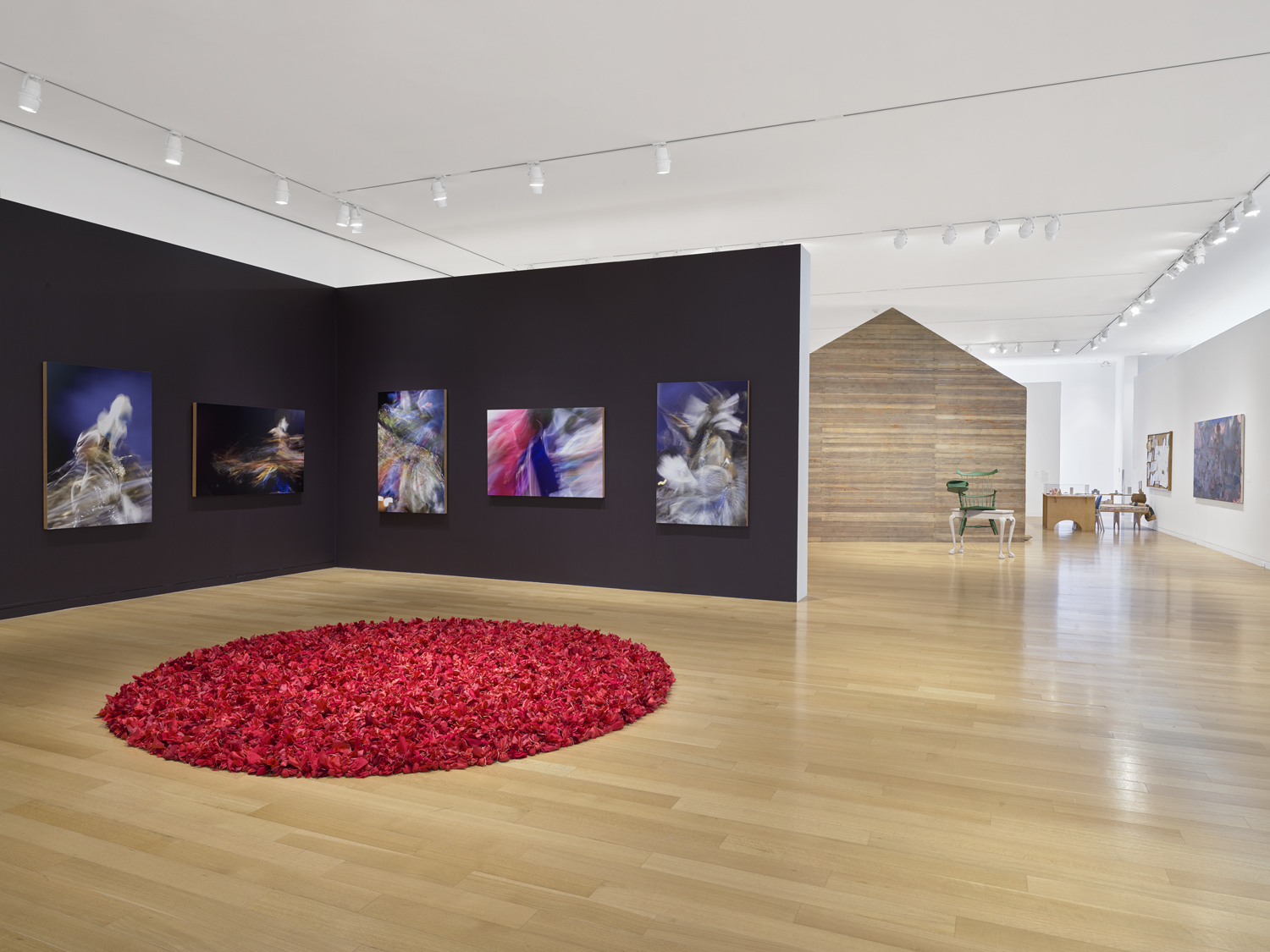 a view of the deCordova main gallery space