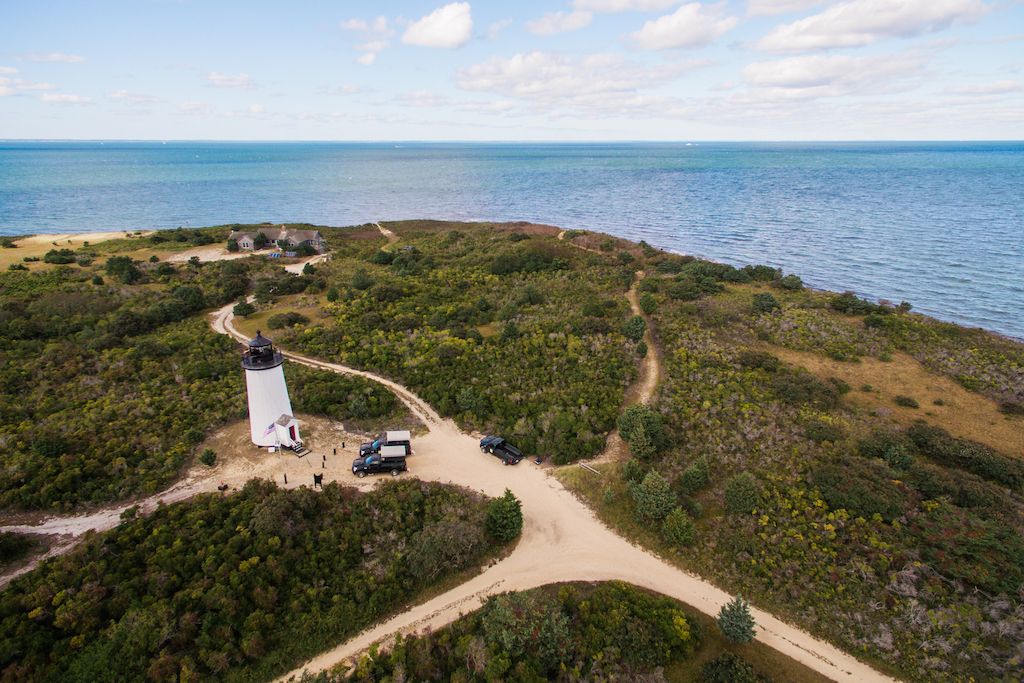 Martha's Vineyard Lighthouse, aerial shot