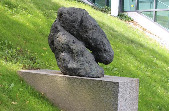 a abstract horse head sculpture
