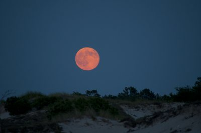 Full Moon Over Dunes