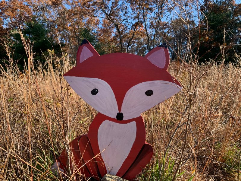 fox wood cutout