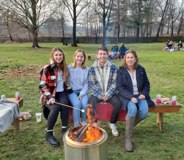 Family at a Fire Pit