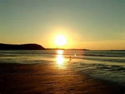 sunset at crane beach