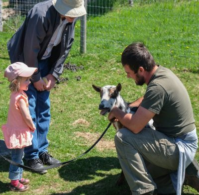 Goat and child at WRF