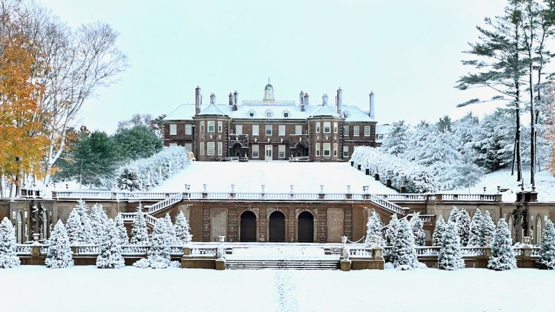 The Great House at Castle Hill in winter
