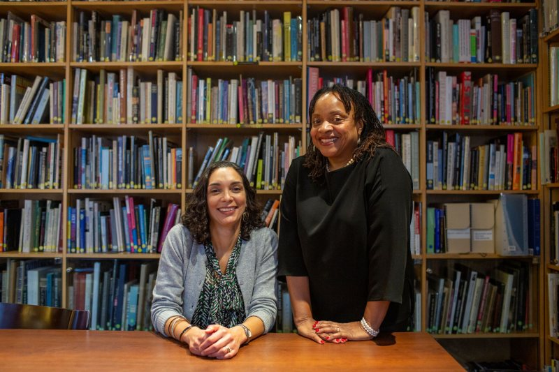 Barbara Krauthamer and Deborah Willis. Photograph by Benjamin Norman