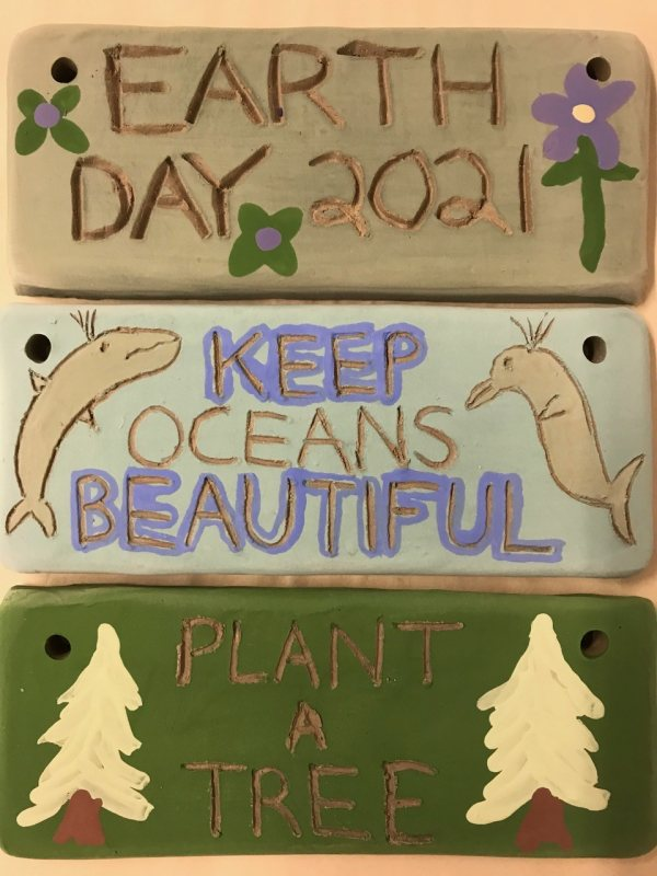 Clay Earth Day Garden Signs Workshop