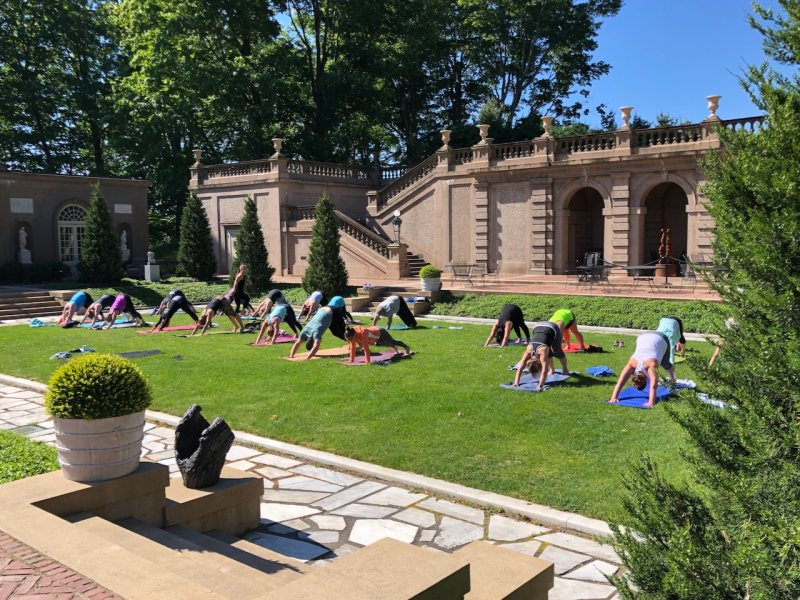 Yoga at the Crane Estate (photo credit to T.Barrieau)