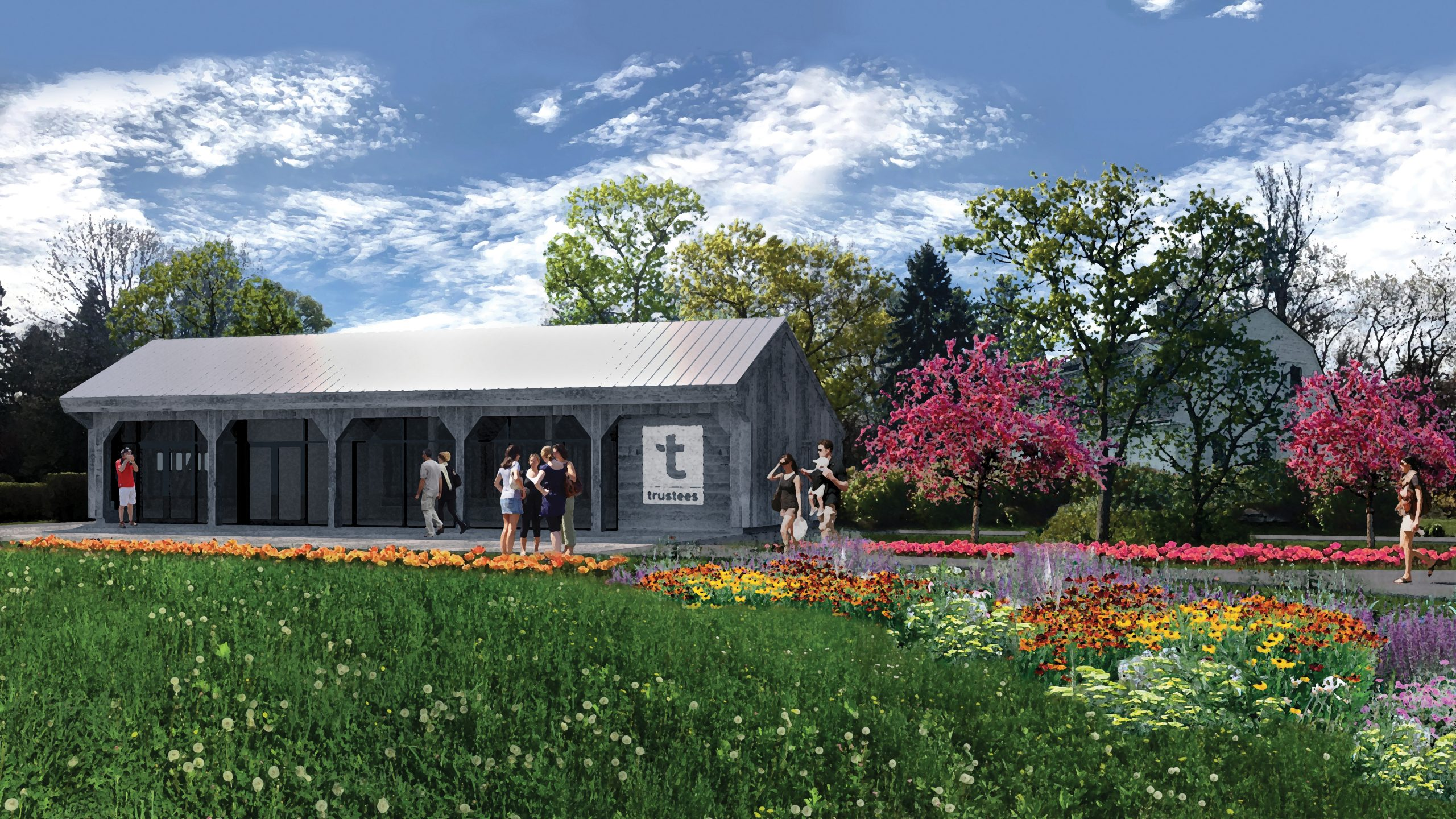 Rendering of Gateway Center at Stevens-Coolidge House & Gardens