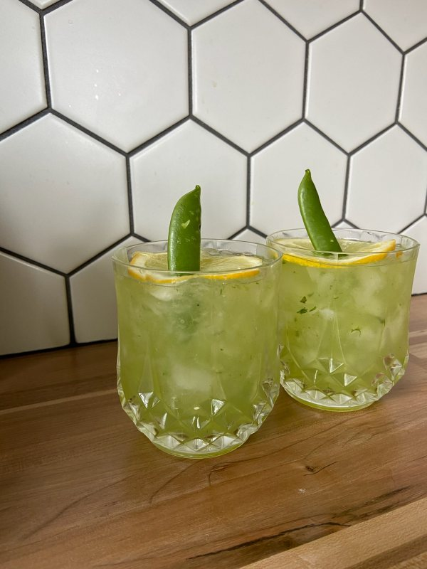 snap pea cocktail