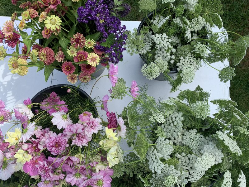 Monet Garden Floral Centerpiece