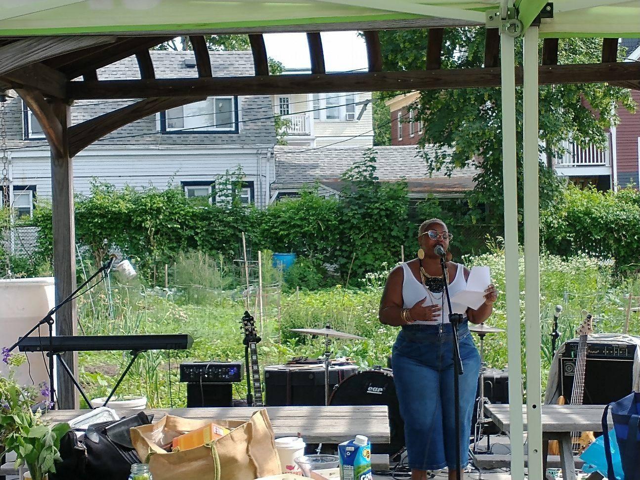 Natasha Nicole Speaking at Nightingale Garden