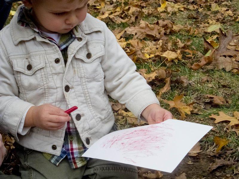 ARTfull play fall crayon texture