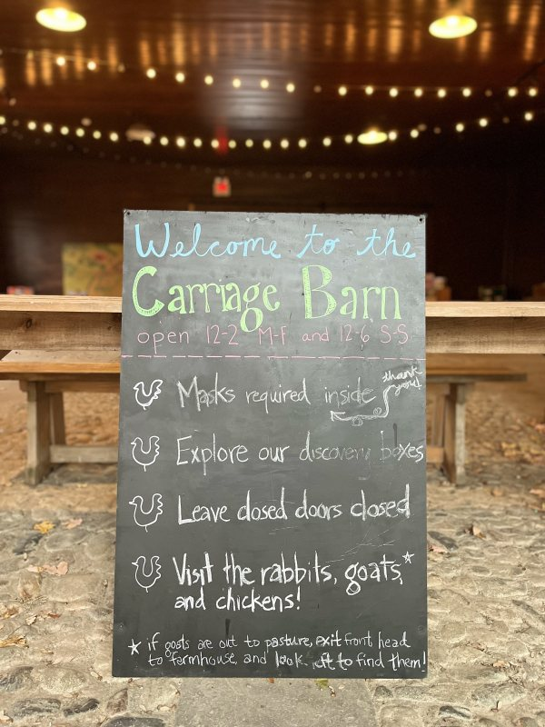 Carriage Barn Sign Masks Required Bigger